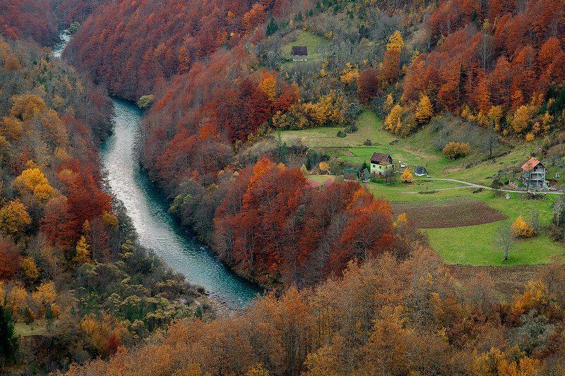 природа, черногория, путешествие, популярное, очень, река, каньон, жабляк, европа, пейзаж Tara riverphoto preview