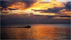 На закате солнца ***At sunset .