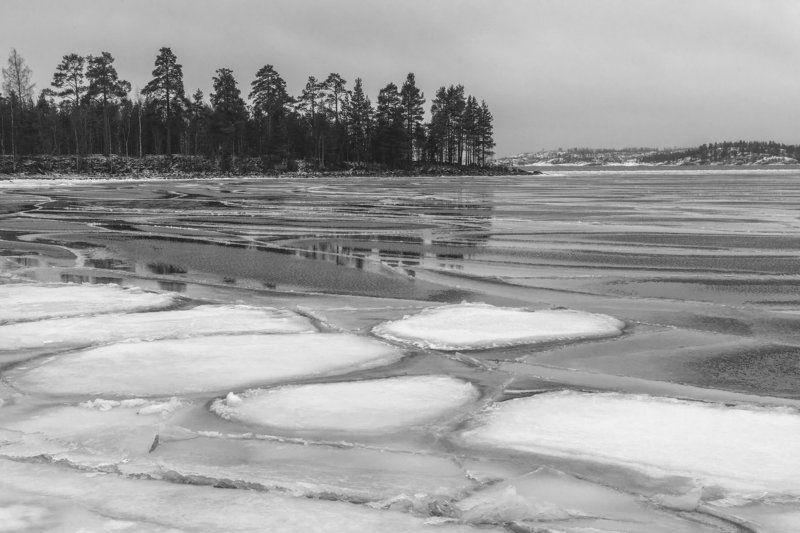 Ладога, Карелия, шхеры, Ладожское озеро Черно-белая Ладогаphoto preview