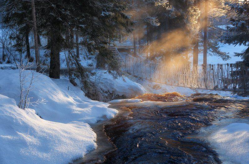 зима, карелия, карьер, рускеала Здравствуй, Рускеала:)photo preview