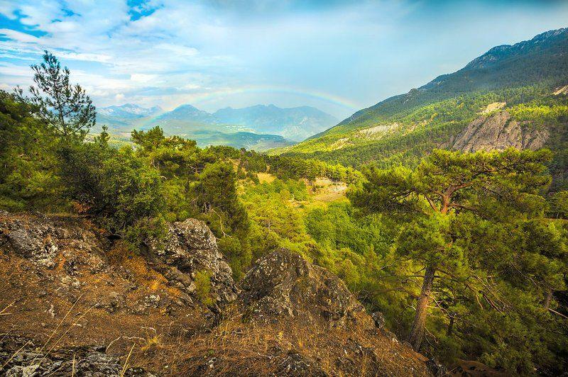 горы, радуга, поход, ликия, турция Турецкая дугаРАphoto preview