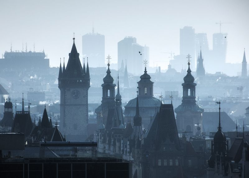 Силуэты. Прага зимой.photo preview