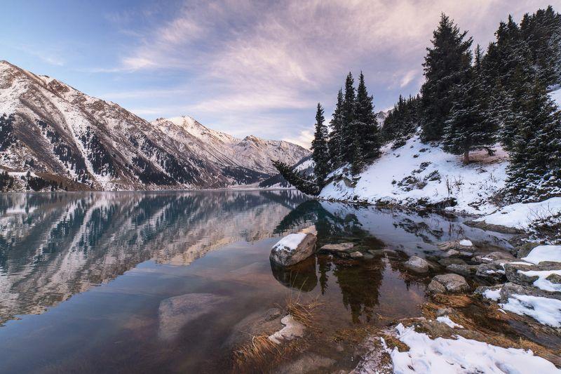 Большое Алматинское озеро, горы, озеро, Казахстан Пора уходить.photo preview
