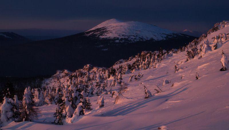таганай, урал, горы, метео, зима, круглица Предрассветная Круглицаphoto preview