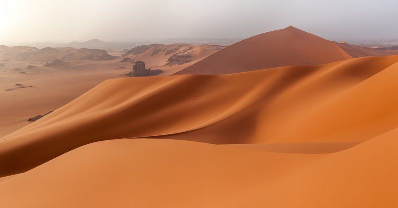 Алжир, Тадрарт, Сахара, Тин Мерзуга, пески, дюна Шелкphoto preview