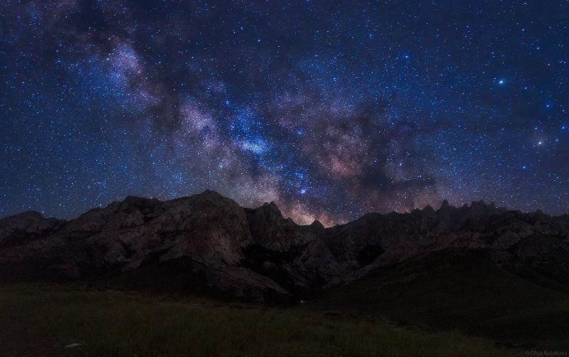 каратау, келиншектау, ночное небо, млечный путь Ночь в Каратауphoto preview