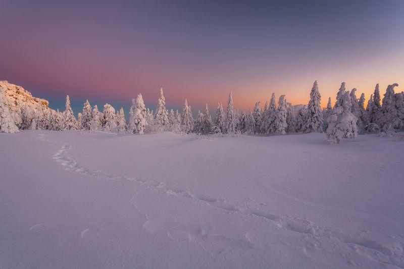 зима, урал, таганай, златоуст, рассвет, t_berg Перламутровый рассвет Таганаяphoto preview