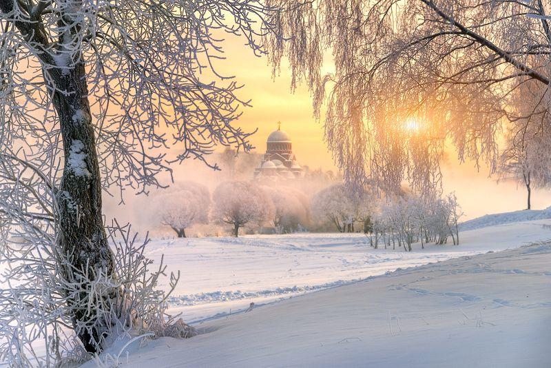 санкт-петербург зимнее утро...photo preview