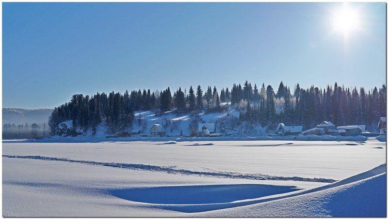 пейзаж, снег, солнце, мороз Морозным днем! photo preview