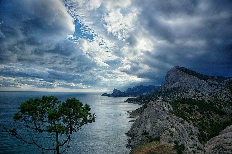 крым, горы, море, природа, облака Крым. Гора Сокол.photo preview