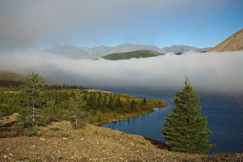якутия, хребет черского, озеро дарпир Начало дня на озере Дарпир.photo preview