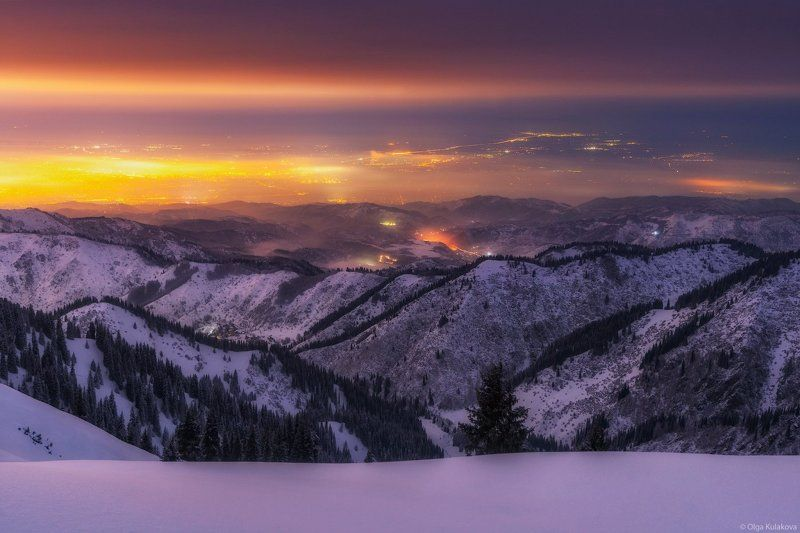 зима, ночь, город * * *photo preview
