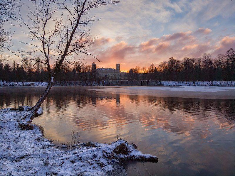Январским вечером в Гатчине...photo preview