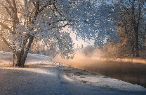 Морозное утро на Истре