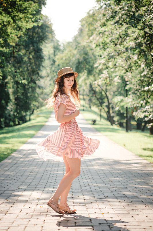 девушка портрет модель лето annromanovska girl portrait beautiful model summer  Summer dressphoto preview