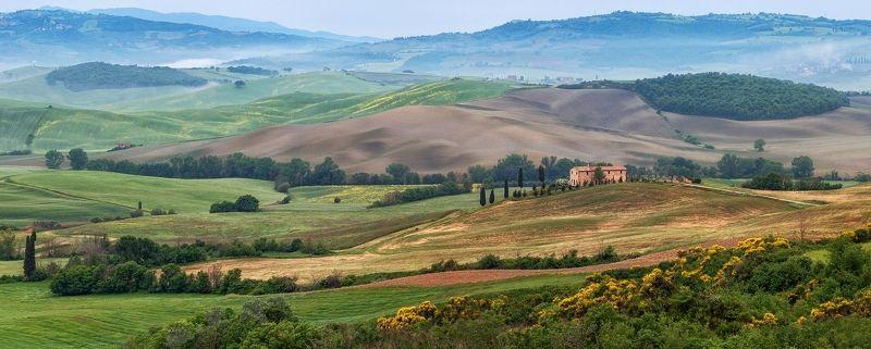 Италия весна панорама пейзаж тоскана  Панорамки тосканские, весенние, спокойныеphoto preview