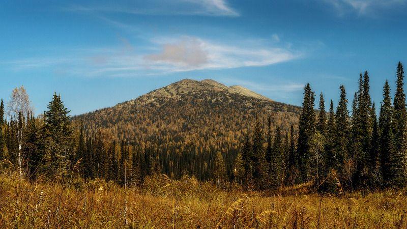 пейзаж, осень, горы, облака  В горах осень! photo preview
