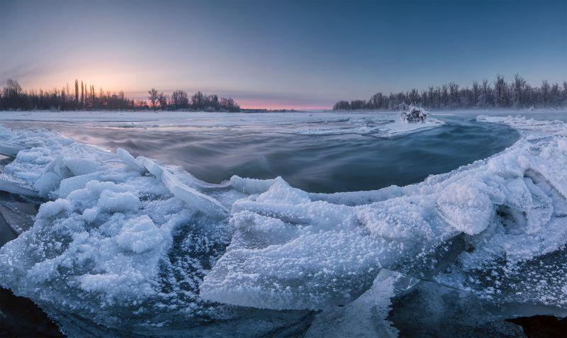 февраль рассвет ледяной остров На ледяном островеphoto preview