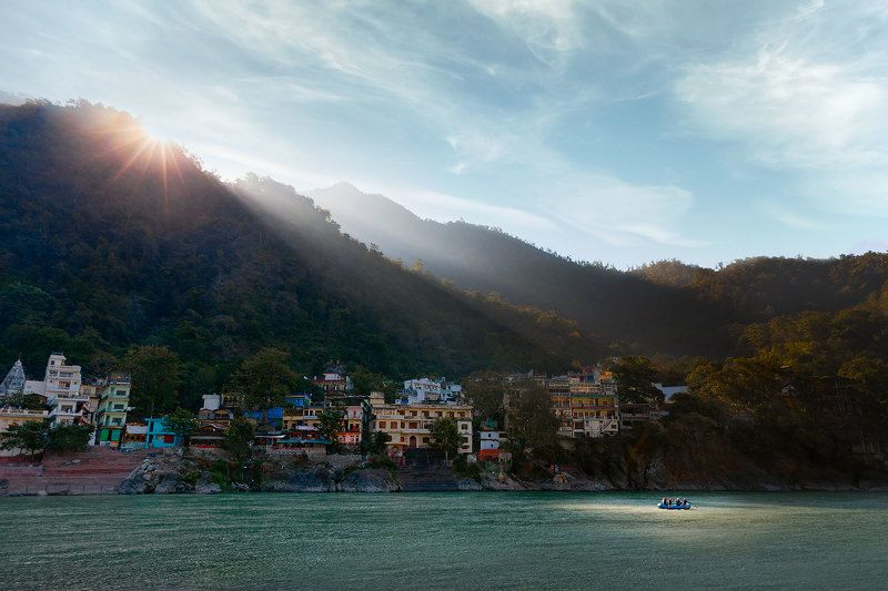 портерт, ришикеш, индия, пейзаж, горы, гималаи, репортаж, рафтинг, india, travel, travelling, landscape, путешествие Ранним утром в Гималаяхphoto preview
