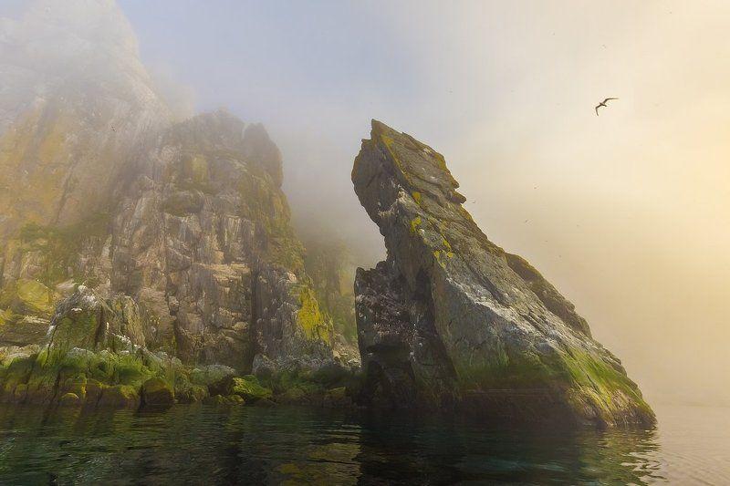 матыкиль, ямские острова, магаданский заповедник, оопт, охотское море, магаданская область, магадан, колыма, крайний север, морской пейзаж Скалы Матыкиляphoto preview