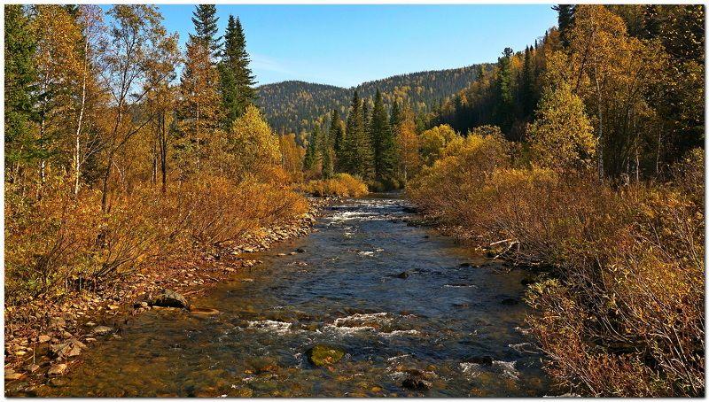 пейзаж, осень, горы, река В горах осень-2!photo preview