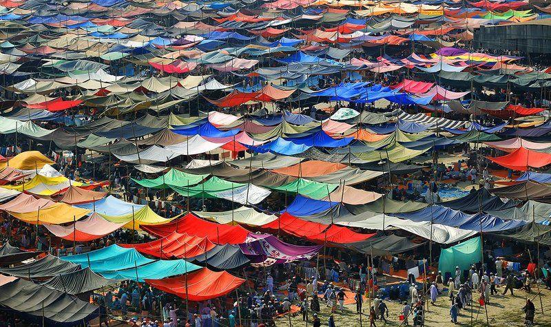 палатки, цвет, шапито, арлекин, праздник, бангладеш Не бойся цветаphoto preview