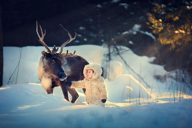Со мной лесной олень..photo preview