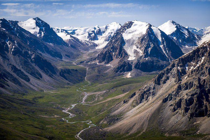 казахстан, горы, джунгарский алатау, граница, китай, ледник, озеро, морена, Ледники и озера Джунгарского Алатауphoto preview