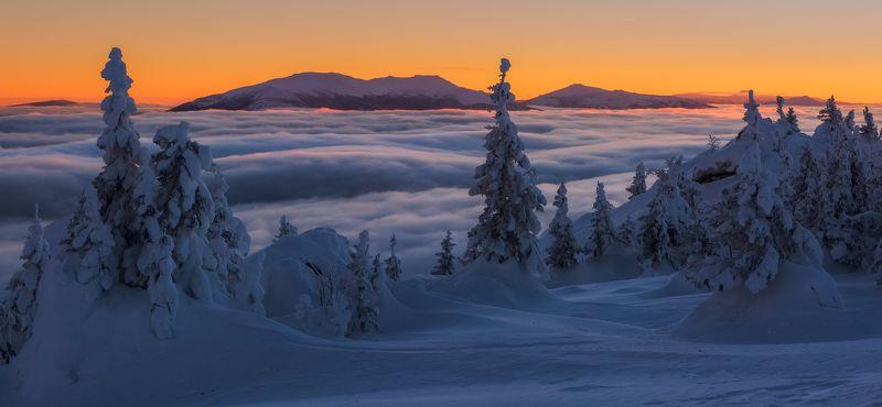 зюраткуль, южный урал, нургуш Облачный прибойphoto preview