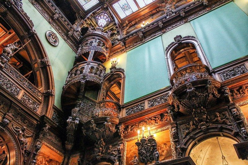 romania, peles palace, interior, travel, architecture Look up!photo preview