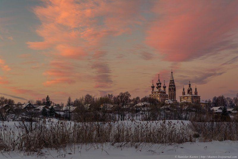 утро, пейзаж, рассвет, зима Предрассветное утро photo preview