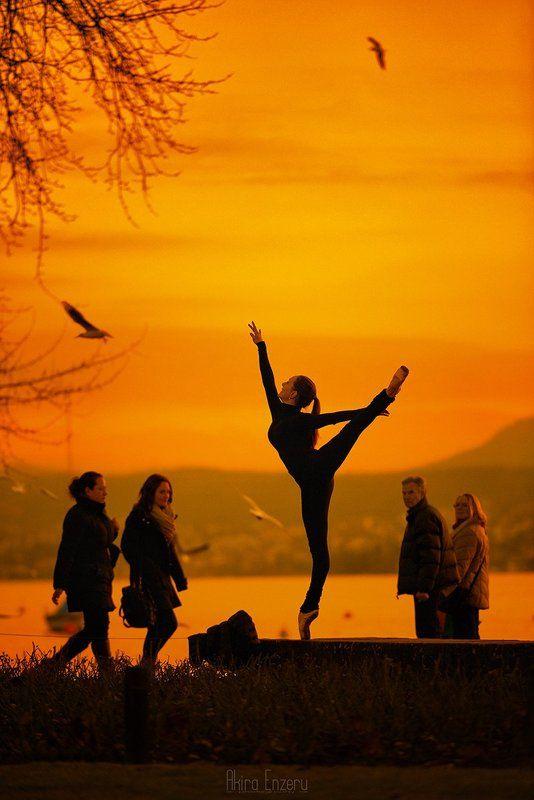 landscape, ballet, ballerina, dance, dancing, Sunset dancephoto preview
