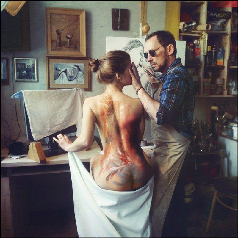 lucas, lucastudio, nude Blind Painter ©photo preview