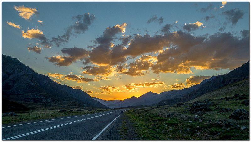 пейзаж, закат, горы, Чуйский тракт  Закат на Чуйском тракте! photo preview