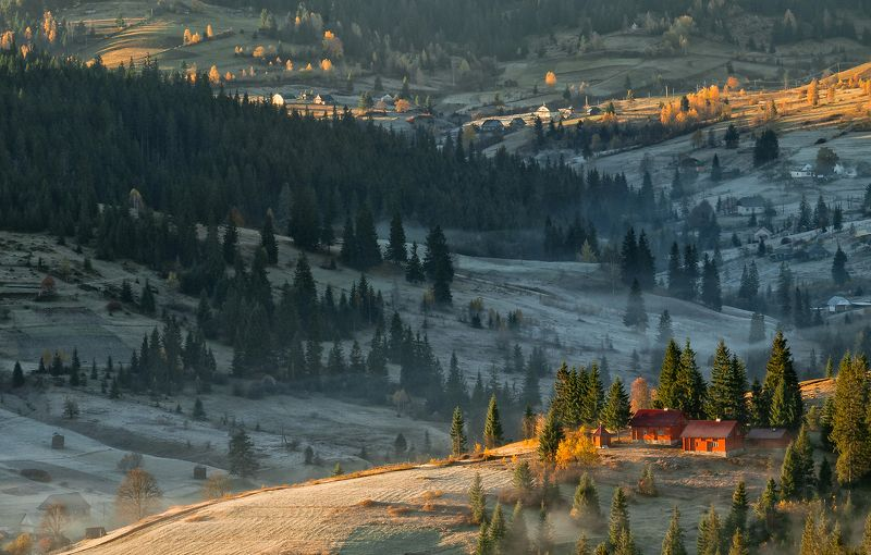 карпаты,осень, поселок, туман, утор,солнце Встречая новый день...photo preview