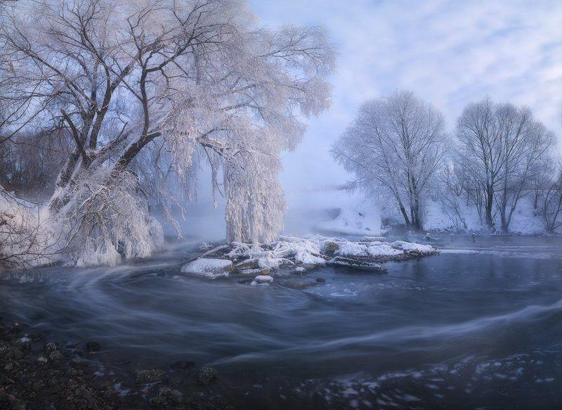 пейзаж, зима, зимнее фото, пейзажная съемка, рассвет, иней, мороз, река, листвянка, панорама, landscape, nikon d7100, sigma, фототуры выходного дня, россия Сказка про Листвянкуphoto preview