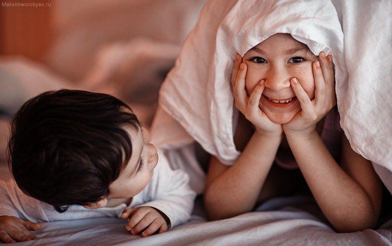 Дети, утро, портрет, улыбка. утро)photo preview