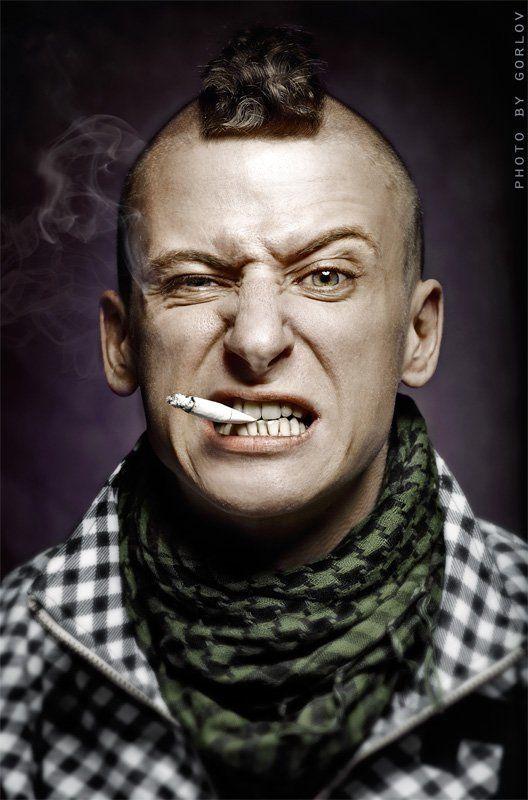 * Smoking man *photo preview