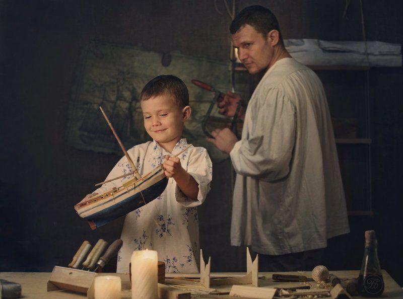 Отец и сын.photo preview
