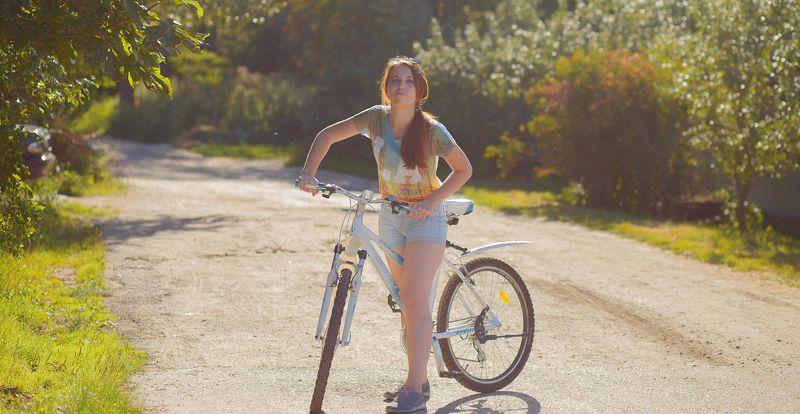 цвет, девушка, модель, портрет, портрет девушки, красотка, велосипед, попа, лето, художественный портрет, фэшн, girl, model, beauty, fashion, art portrait, color Летоphoto preview