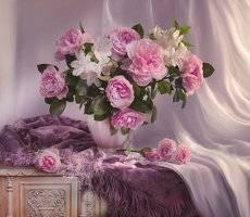 Прекрасных роз нежнейший аромат...