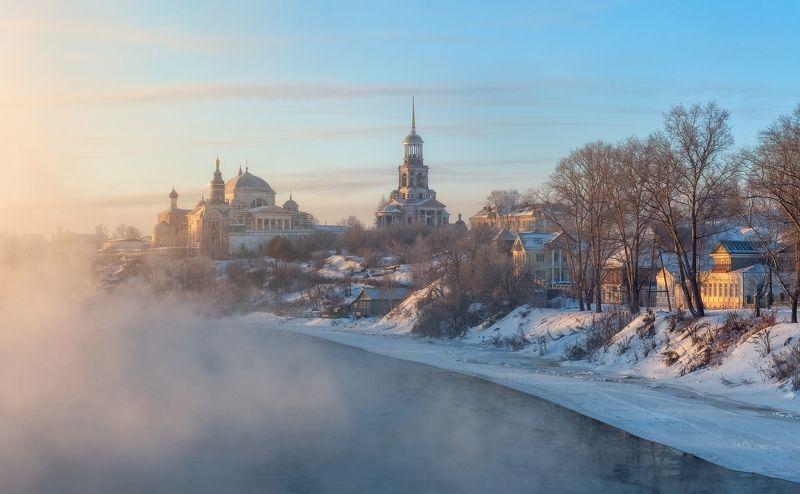 Россия Торжок Тверца Тверская область зима мороз  photo preview