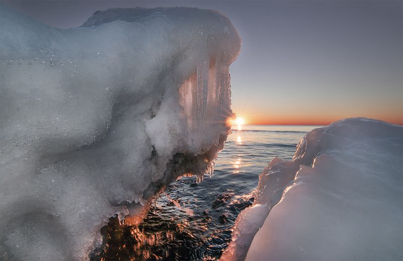 ice,sunset,sea Winter tearsphoto preview