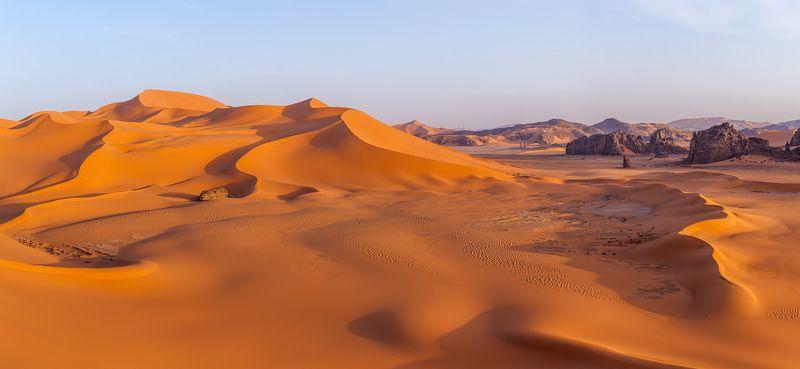 Сахара, Тадрарт, Алжир, дюна, барханы, пустыня, Африка \