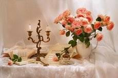 Пусть, как роза тают свечи...