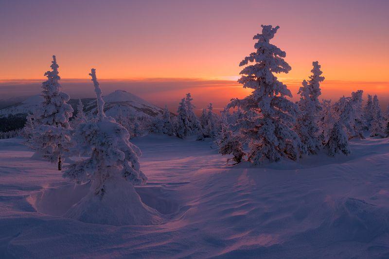 Зюраткуль, Южный Урал, Большая Сука Февральский штиль photo preview