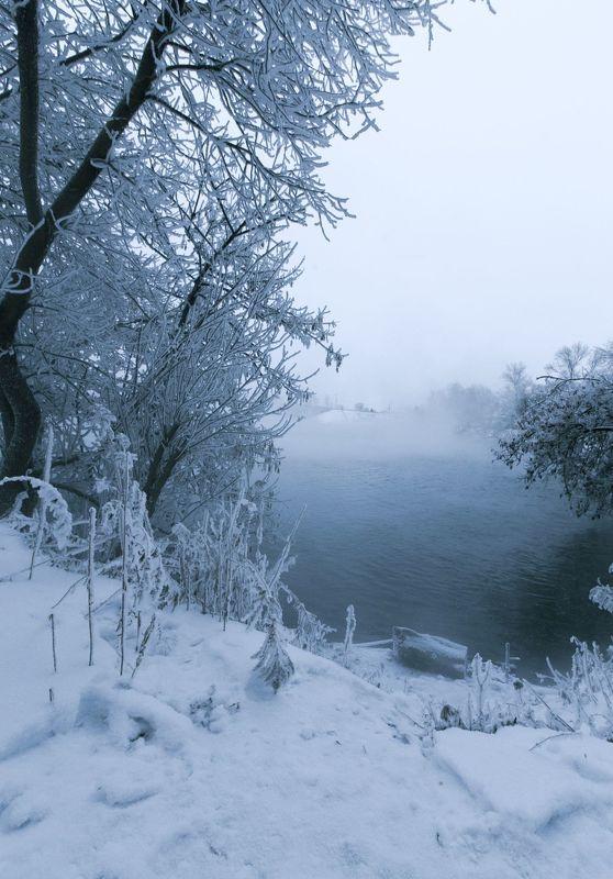 зима, снег, туман, утро, горячка, пейзаж, красота, winter, snow, mist, morning, landscape, beauty Горячкаphoto preview