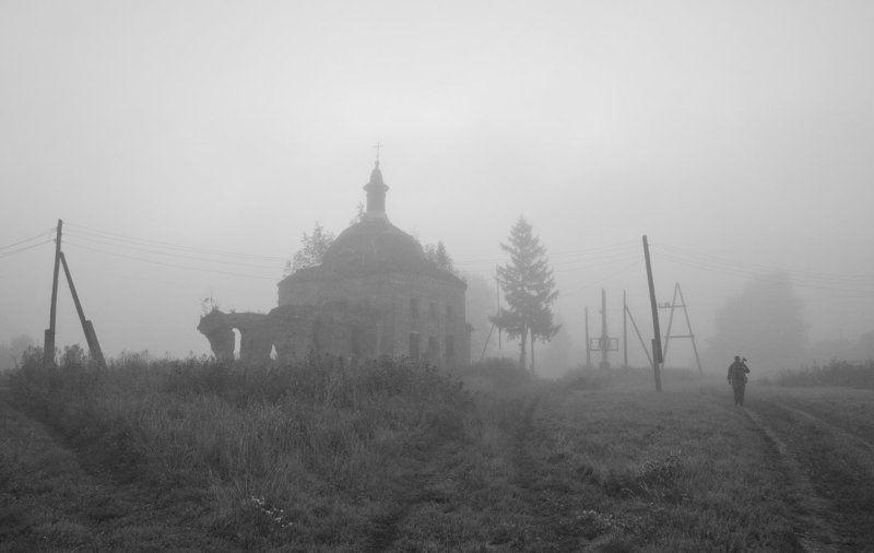 храм утро Таинство туманных очертанийphoto preview