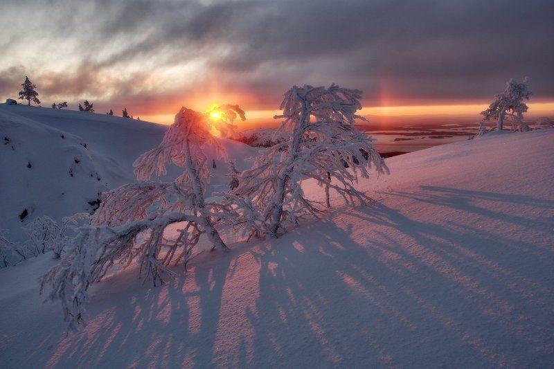 кольский полуостров, мурманская,кандалакша Солнце над заливомphoto preview