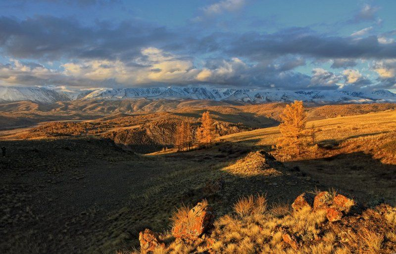 алтай, горный алтай, курай, утро, горы, осень На Курайских холмахphoto preview
